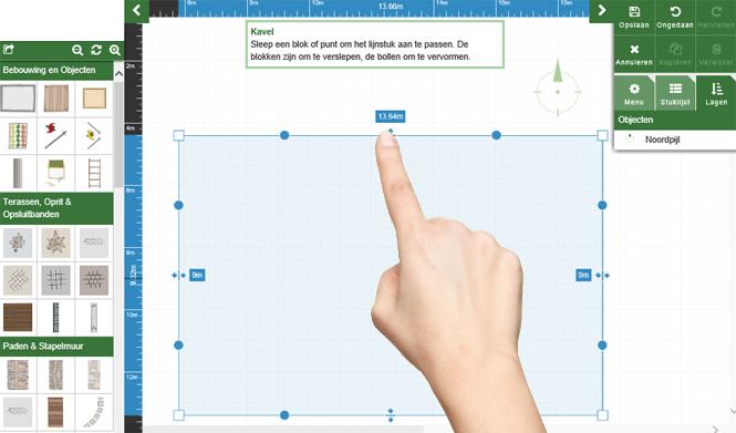 Teken je tuin op for Tuin tekenen app